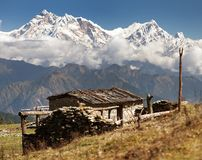 Τοποθετήστε Annapurna - το Νεπάλ Στοκ Φωτογραφίες
