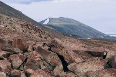 Τοποθετήστε Aragats, Αρμενία Στοκ Φωτογραφίες
