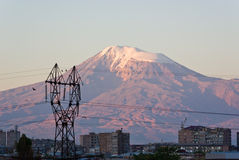 Τοποθετήστε Ararat όπως βλέπει από Jerevan Στοκ Φωτογραφίες