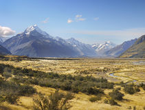 Τοποθετήστε Cook, εθνικό πάρκο, Νέα Ζηλανδία Στοκ Εικόνες