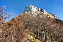 Τοποθετήστε Klak, φθινοπωρινή άποψη από τα βουνά Mala Fatra Στοκ Φωτογραφία
