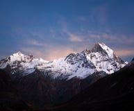Τοποθετήστε Machapuchare, άποψη από το στρατόπεδο βάσεων Annapurna, Νεπάλ Στοκ Εικόνες