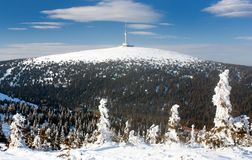 Τοποθετήστε Praded - Jesenik - Τσεχία στοκ φωτογραφία με δικαίωμα ελεύθερης χρήσης