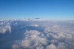 Τοποθετήστε Rinjani από τον ουρανό Στοκ εικόνα με δικαίωμα ελεύθερης χρήσης