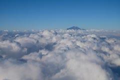 Τοποθετήστε Rinjani από τον ουρανό Στοκ φωτογραφία με δικαίωμα ελεύθερης χρήσης
