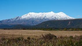 Τοποθετήστε Ruapehu που καλύπτεται στο χιόνι στην απόσταση στη Νέα Ζηλανδία στοκ εικόνες με δικαίωμα ελεύθερης χρήσης