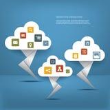 τοποθετημένα lap-top στοιχεία συμπεριφοράς έννοιας υπολογισμού υπολογιστών επικοινωνίας σύννεφων Στοκ εικόνες με δικαίωμα ελεύθερης χρήσης