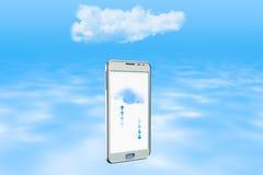 τοποθετημένα lap-top στοιχεία συμπεριφοράς έννοιας υπολογισμού υπολογιστών επικοινωνίας σύννεφων Στοκ Φωτογραφίες