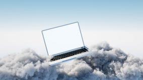τοποθετημένα lap-top στοιχεία συμπεριφοράς έννοιας υπολογισμού υπολογιστών επικοινωνίας σύννεφων Στοκ φωτογραφία με δικαίωμα ελεύθερης χρήσης