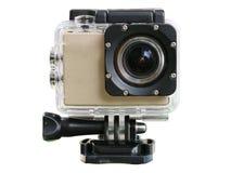 Τοποθετημένη κράνος κάμερα για να καταγράψει τα γεγονότα του ταξιδιού Στοκ εικόνες με δικαίωμα ελεύθερης χρήσης