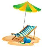 τοποθετημένη παραλία θερέτρου παραλιών έδρα απεικόνιση αποθεμάτων