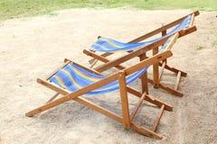 τοποθετημένη παραλία θερέτρου παραλιών έδρα Στοκ φωτογραφία με δικαίωμα ελεύθερης χρήσης