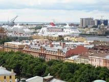 Τοπ άποψη Αγίου Πετρούπολη Ρωσία Στοκ φωτογραφία με δικαίωμα ελεύθερης χρήσης
