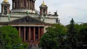 Τοπ άποψη από τον καθεδρικό ναό StIsaac ` s στη Αγία Πετρούπολη, Ρωσία Άποψη επάνω της πόλης της Αγία Πετρούπολης από την κιονοστ απόθεμα βίντεο