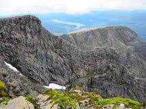Τοπ άποψη βουνών του Ben Nevis Στοκ εικόνα με δικαίωμα ελεύθερης χρήσης