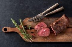 Τοπ άποψη βόειου κρέατος ψητού στοκ φωτογραφίες
