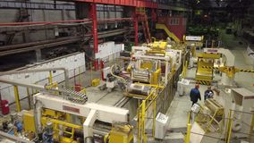 Τοπ άποψη καταστημάτων εργοστασίων απόθεμα βίντεο