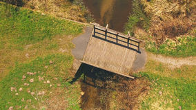Τοπ άποψη μιας ξύλινης γέφυρας στο Eutersee Στοκ φωτογραφία με δικαίωμα ελεύθερης χρήσης