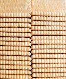 Τοπ άποψη μπισκότα σε μια σειρά Φωτογραφία στούντιο φωτογραφιών τροφίμων Στοκ φωτογραφία με δικαίωμα ελεύθερης χρήσης