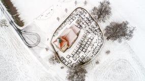 Τοπ άποψη νεκροταφείων Στοκ εικόνα με δικαίωμα ελεύθερης χρήσης
