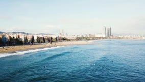 Τοπ άποψη πόλεων της Φλώριδας απόθεμα Τοπ άποψη της αμμώδους παραλίας στην πόλη στοκ φωτογραφίες με δικαίωμα ελεύθερης χρήσης