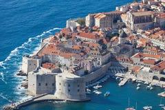 Τοπ άποψη πόλεων Dubrovnik παλαιά Στοκ εικόνα με δικαίωμα ελεύθερης χρήσης