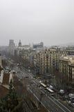 Τοπ άποψη στη Βαρκελώνη, Ισπανία στοκ εικόνα