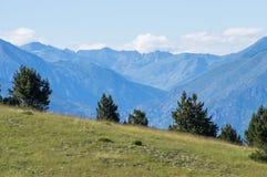 Τοπ άποψη σχετικά με τα βουνά των Πυρηναίων Στοκ Εικόνες
