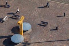 Τοπ άποψη σχετικά με το τετράγωνο δημοκρατιών, Plzen Στοκ Εικόνες