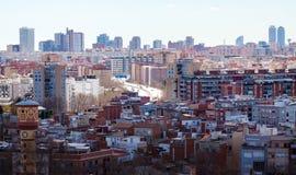 Τοπ άποψη της Βαρκελώνης, Ισπανία Στοκ εικόνα με δικαίωμα ελεύθερης χρήσης