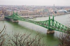 Τοπ άποψη της Βουδαπέστης Στοκ φωτογραφία με δικαίωμα ελεύθερης χρήσης