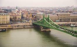 Τοπ άποψη της Βουδαπέστης Στοκ Εικόνες