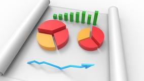 Τοπ άποψη της επιχειρησιακής έκθεσης, σχετικά με χαρτί τρισδιάστατος δώστε διανυσματική απεικόνιση