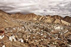 Τοπ άποψη της εποικημένης πόλης Ladakh, Ινδία Στοκ εικόνες με δικαίωμα ελεύθερης χρήσης