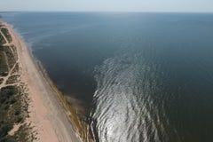 Τοπ άποψη της θάλασσας Azov στοκ φωτογραφία