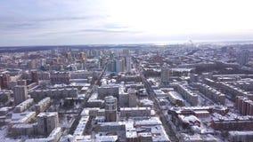 Τοπ άποψη της μεγάλης ρωσικής πόλης το χειμώνα r r ( Δημοκρατία της Καρελίας, βόρεια της Ρωσίας φιλμ μικρού μήκους