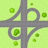 Τοπ άποψη της οδικής σύνδεσης Στοκ Εικόνες
