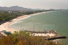 Τοπ άποψη της παραλίας Khao Tao, Ταϊλάνδη Στοκ εικόνες με δικαίωμα ελεύθερης χρήσης