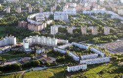 Τοπ άποψη της περιοχής Moscowsky, πόλη μικροϋπολογιστών του Ryazan Στοκ εικόνα με δικαίωμα ελεύθερης χρήσης
