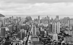 Τοπ άποψη της πόλης του Santos, στη Βραζιλία Στοκ εικόνα με δικαίωμα ελεύθερης χρήσης