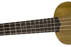 Τοπ άποψη του λαιμού ukulele στοκ φωτογραφία