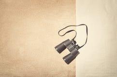 Τοπ άποψη του αμμώδους πλαισίου παραλιών Εκλεκτής ποιότητας υπόβαθρο επίδρασης Στοκ Εικόνες