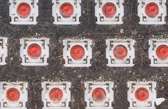 Τοπ άποψη του αποσυναρμολογημένου βρώμικου πληκτρολογίου, κινηματογράφηση σε πρώτο πλάνο Στοκ εικόνες με δικαίωμα ελεύθερης χρήσης