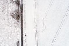 Τοπ άποψη του δρόμου Στοκ Εικόνες