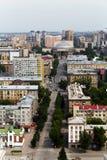 τοπ άποψη του κεντρικού δρόμου της πόλης του Novosibirsk, Ρωσία Στοκ εικόνες με δικαίωμα ελεύθερης χρήσης