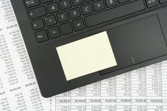 Τοπ άποψη του μαύρου κατασκευασμένου πληκτρολογίου lap-top Στοκ Εικόνες