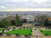 Τοπ άποψη του Παρισιού από το montmartre Στοκ Εικόνες