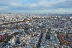 Τοπ άποψη του Παρισιού, Γαλλία Στοκ Εικόνες