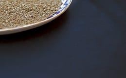Τοπ άποψη του πιάτου με το κύμινο Στοκ εικόνες με δικαίωμα ελεύθερης χρήσης