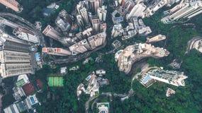 Τοπ άποψη του Χονγκ Κονγκ Στοκ εικόνα με δικαίωμα ελεύθερης χρήσης